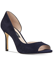 Nine West Jeff D'Orsay Peep-toe Pumps