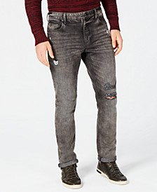 Men's Slim-Fit Stretch Ripped Jeans, Created for Macy's