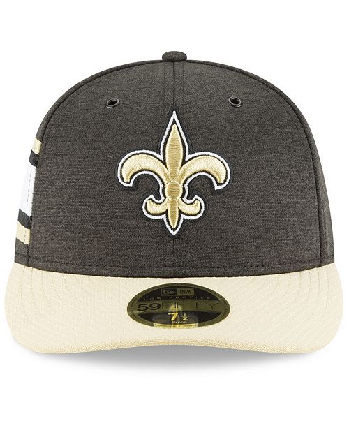 ... New Orleans Saints On Field Low Profile Sideline Home 59FIFTY FITTED  Cap ... 637e1b425