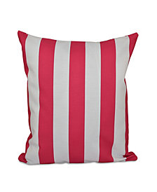 16 Inch Fuchsia Decorative Striped Throw Pillow