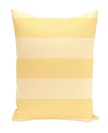 16 Inch Yellow Decorative Striped Throw Pillow