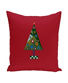 16 Inch Red Decorative Christmas Throw Pillow