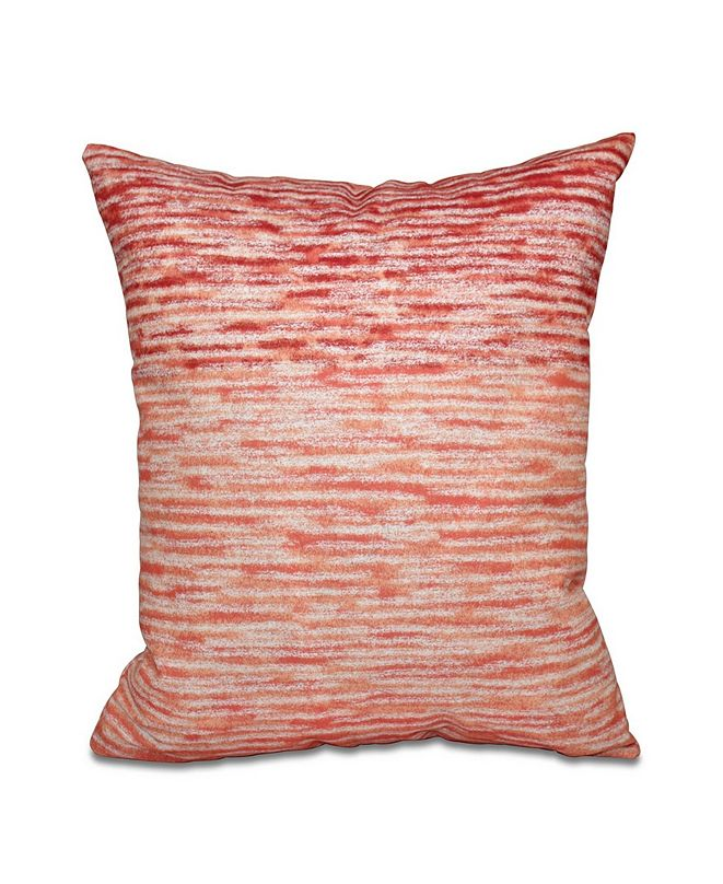 E by Design Ocean View 16 Inch Orange Decorative Geometric Throw Pillow