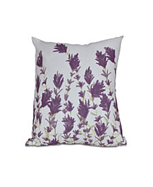 Lavender 16 Inch Purple Decorative Floral Throw Pillow