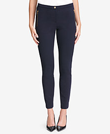 Calvin Klein Stretch Crepe Ankle Pants