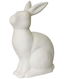 Simple Designs Porcelain Bunny Rabbit Shaped Animal Light Table Lamp