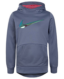 Nike Little Girls Therma-FIT Logo-Print Tunic Hoodie