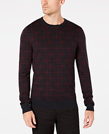 Ryan Seacrest Distinction™ Men's Geometric Sweater, Created for Macy's