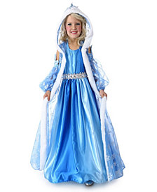 Snow Queen Gown and Cape Big Girls Costume