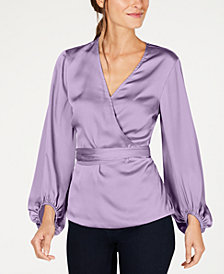 I.N.C. Petite Blouson Sleeve Top, Created for Macy's