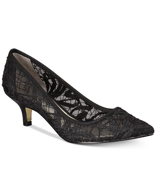 8243505fc2cc Adrianna Papell Lois Lace Evening Pumps   Reviews - Pumps - Shoes ...