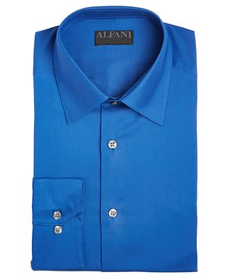 Alfani Alfatech By Men S Solid Athletic Fit Dress Shirt Created For