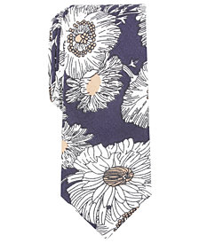 Bar III Men's Baldwin Floral Skinny Tie, Created for Macy's