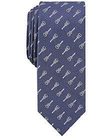Bar III Men's Guitar Motif Skinny Tie, Created for Macy's