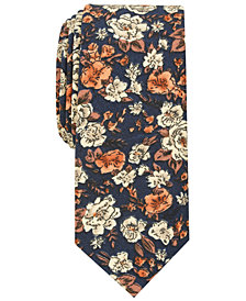 Bar III Men's Madison Floral Skinny Tie, Created for Macy's