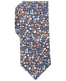 Bar III Men's Petite Floral Skinny Tie, Created for Macy's