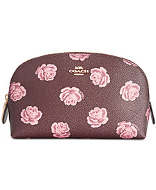 COACH Rose-Print Cosmetic Case 17