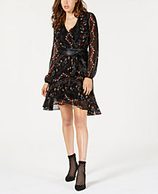 GUESS Belted High-Low Dress