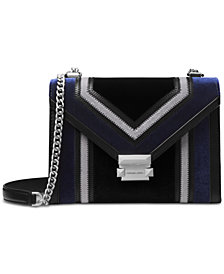 MICHAEL Michael Kors Whitney Tricolor Velvet Shoulder Bag