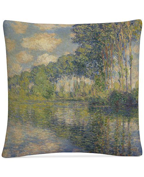 "Baldwin Monet Poplars On The Epte 16"" x 16"" Decorative Throw Pillow"