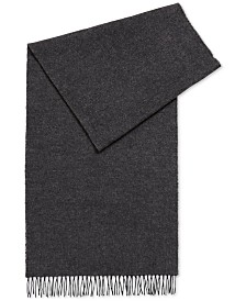 BOSS Men's Fringe-Trim Virgin Wool Scarf