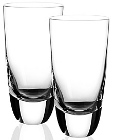 American Bar Straight Bourbon Highball Glasses, Set of 2