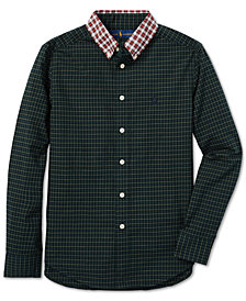 Polo Ralph Lauren Big Boys Plaid Cotton Poplin Shirt