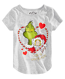 Hybrid Little Girls Grinch Happy Who-lidays T-shirt