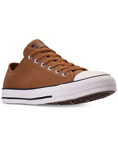085fcc8f762b ... Converse Unisex Chuck Taylor Ox Leather Casual Sneakers from Finish Line  ...
