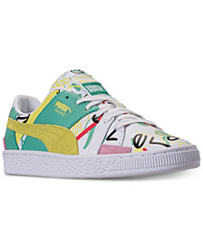Puma Women's Basket Graphic SM Casual Sneakers from Finish Line