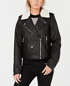 Levi's® Cropped Sherpa Collar Moto Jacket