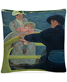 "Mary Cassatt The Boating Party 1893-94 16"" x 16"" Decorative Throw Pillow"