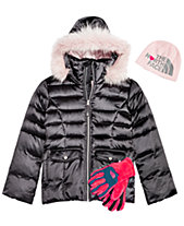 The North Face Little   Big Girls Anders Beanie, Hooded Jacket   Osito  Gloves 5842e1e0e1f