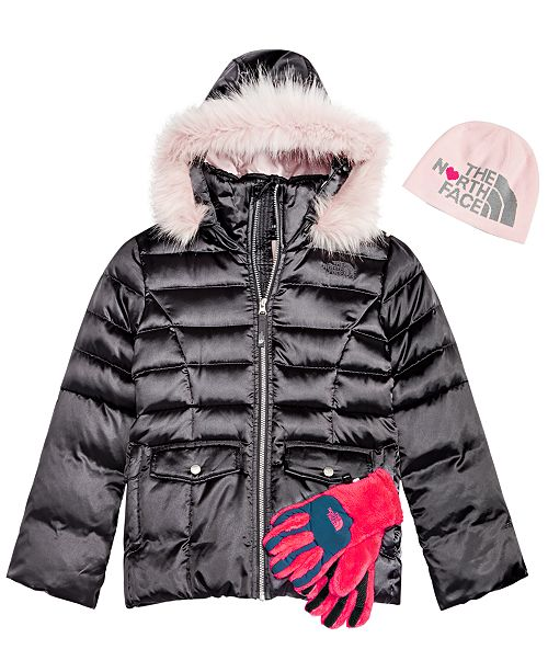 5c81593f2 The North Face Little & Big Girls Anders Beanie, Hooded Jacket ...