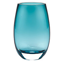 Badash Crystal Crescendo Peacock Blue Vase