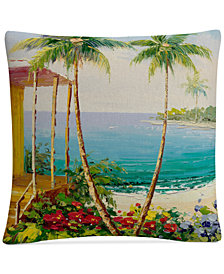 "Rio Key West Villa 16"" x 16"" Decorative Throw Pillow"