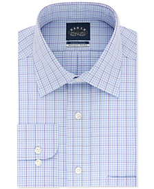 Eagle Men's Big and Tall Non-Iron Flex Collar Check Dress Shirt