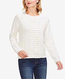Vince Camuto Laced-Knit Sweater