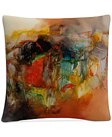 "Zavaleta Abstract VI 16"" x 16"" Decorative Throw Pillow"