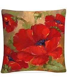 """Rio Poppies 16"""" x 16"""" Decorative Throw Pillow"""