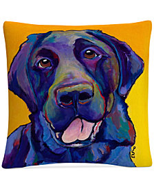 "Pat Saunders-White Buddy 16"" x 16"" Decorative Throw Pillow"