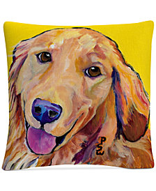 "Pat Saunders-White Molly 16"" x 16"" Decorative Throw Pillow"