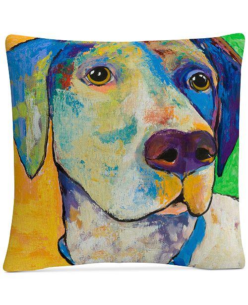 "Baldwin Pat Saunders-White Yancy 16"" x 16"" Decorative Throw Pillow"