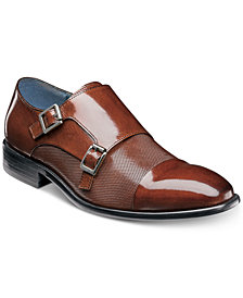 Stacy Adams Men's Jennings Cap-Toe Double-Monk Strap Loafers