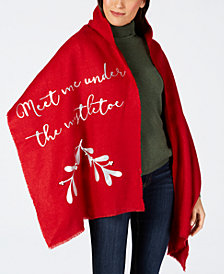 Charter Club Mistletoe Blanket Wrap, Created for Macy's