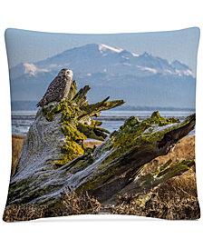 "Pierre Leclerc Snowy Owl 16"" x 16"" Decorative Throw Pillow"