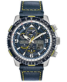 Eco-Drive Men's Analog-Digital Chronograph Promaster Blue Angels Skyhawk A-T Blue Leather Strap Watch 46mm