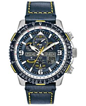 c6303574401 Citizen Eco-Drive Men s Analog-Digital Chronograph Promaster Blue Angels  Skyhawk A-T Blue Leather