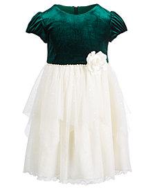 Bonnie Jean Toddler Girls Velvet Organza Dress