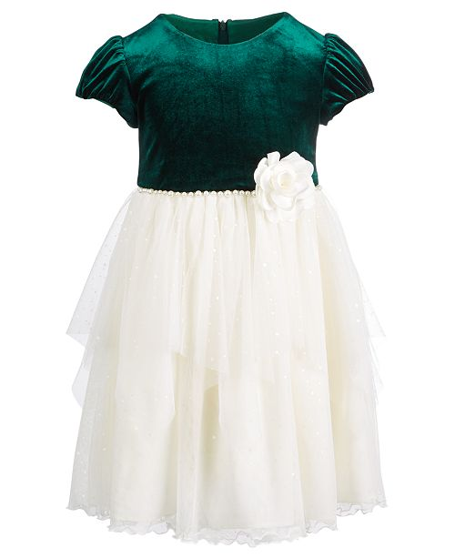 9d1ea8e80 Bonnie Jean Toddler Girls Velvet Organza Dress   Reviews - Dresses ...